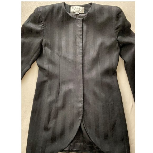 Vintage Christian Dior Black Striped Blazer